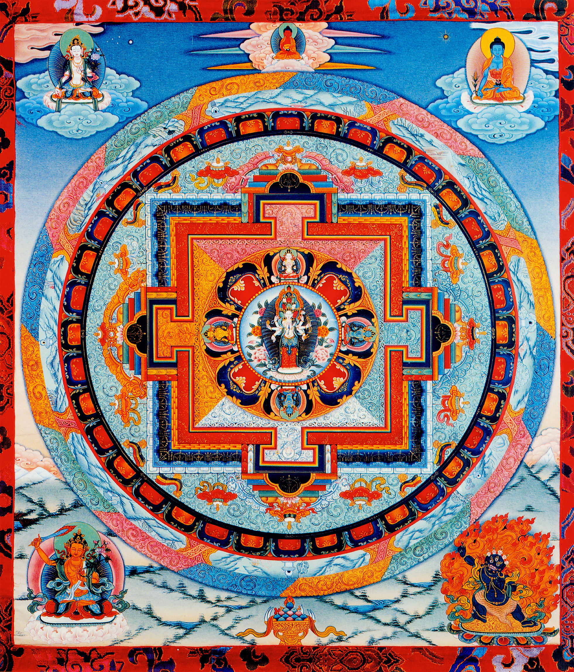 1000 Armed Avalokiteshvara Mandala