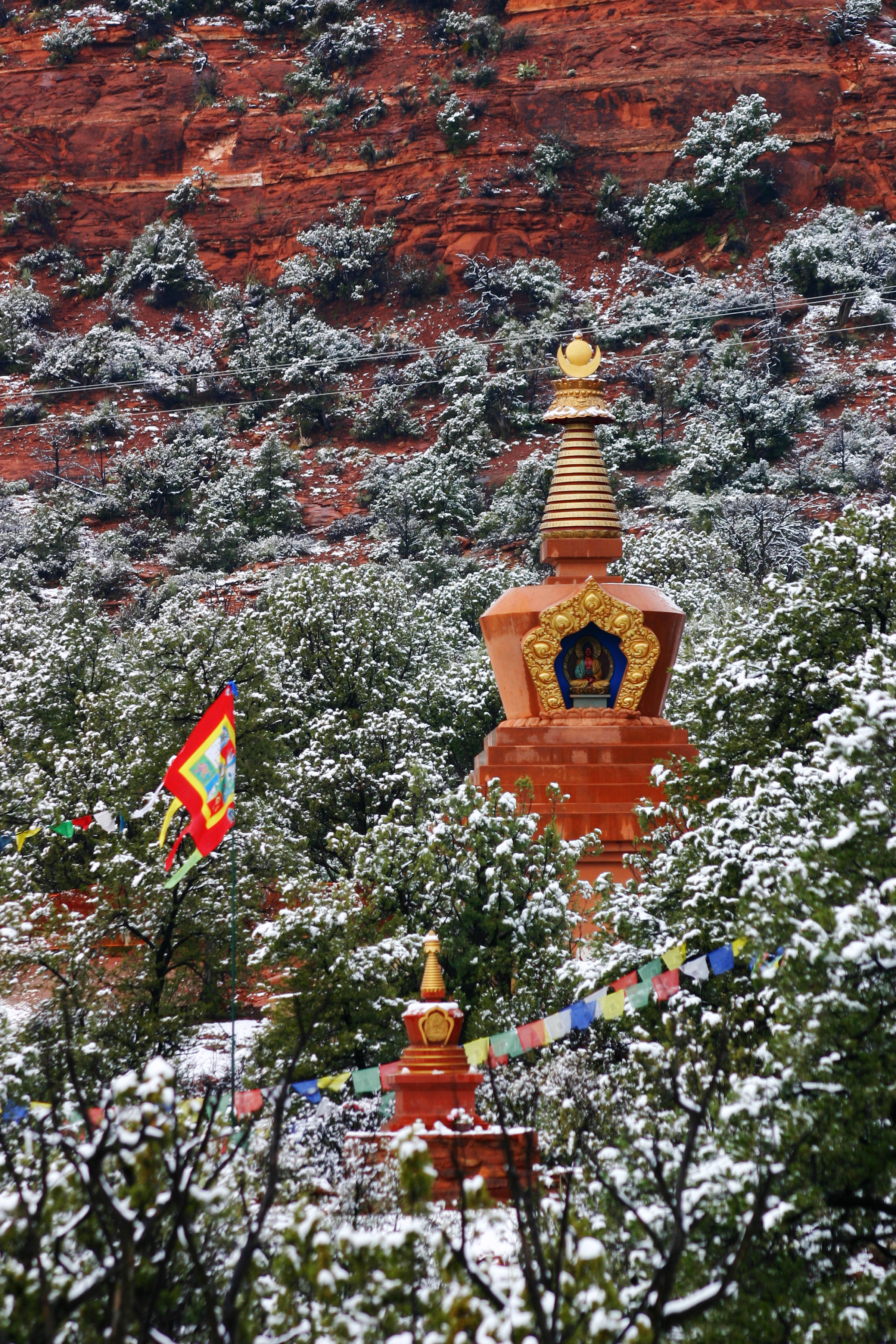 Amitabha Stupa Winter