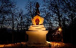 Enlightenment Stupa at Night print