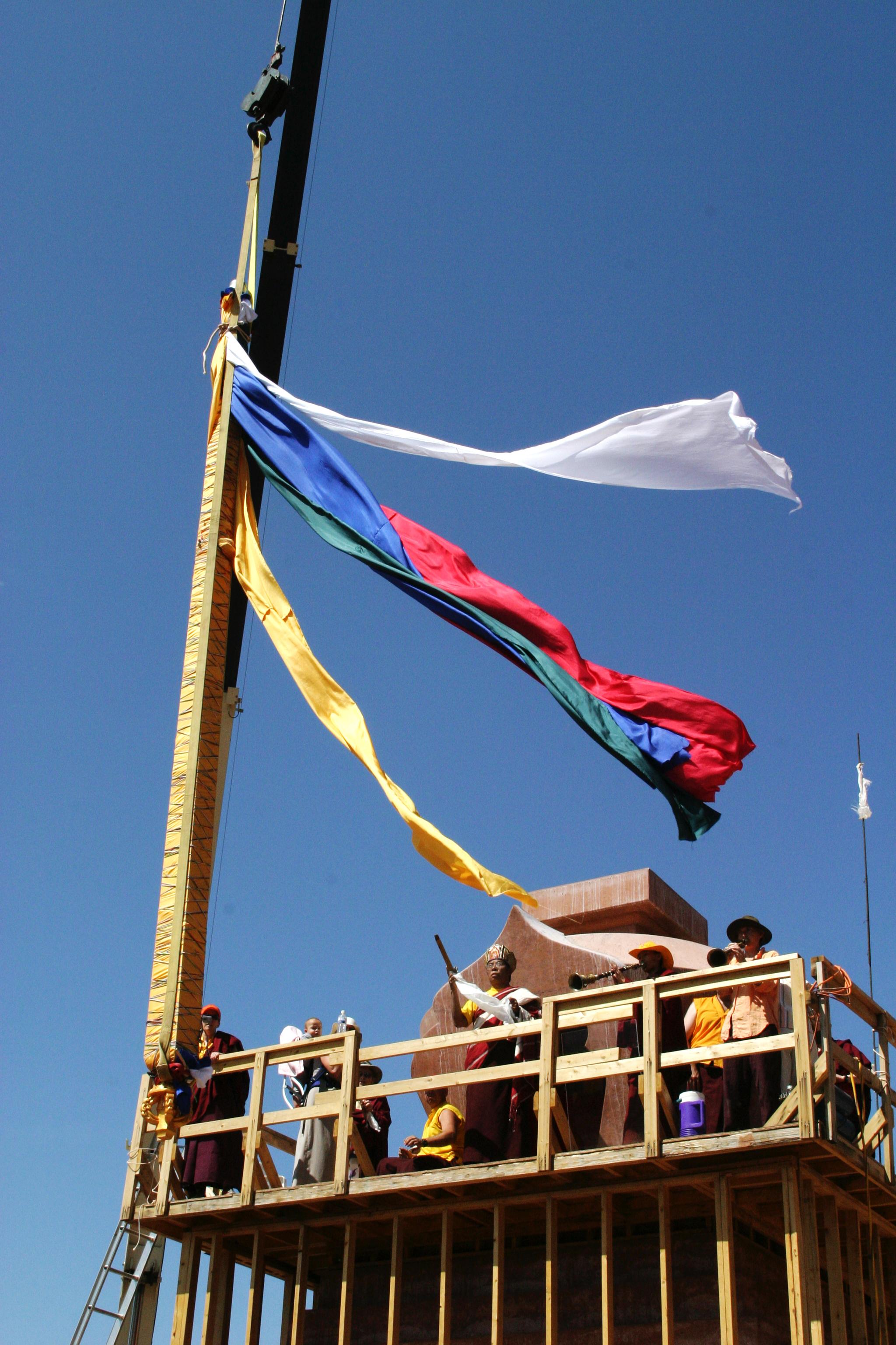 Tulku Sang Ngag Rinpoche at Amitabha Stupa construction