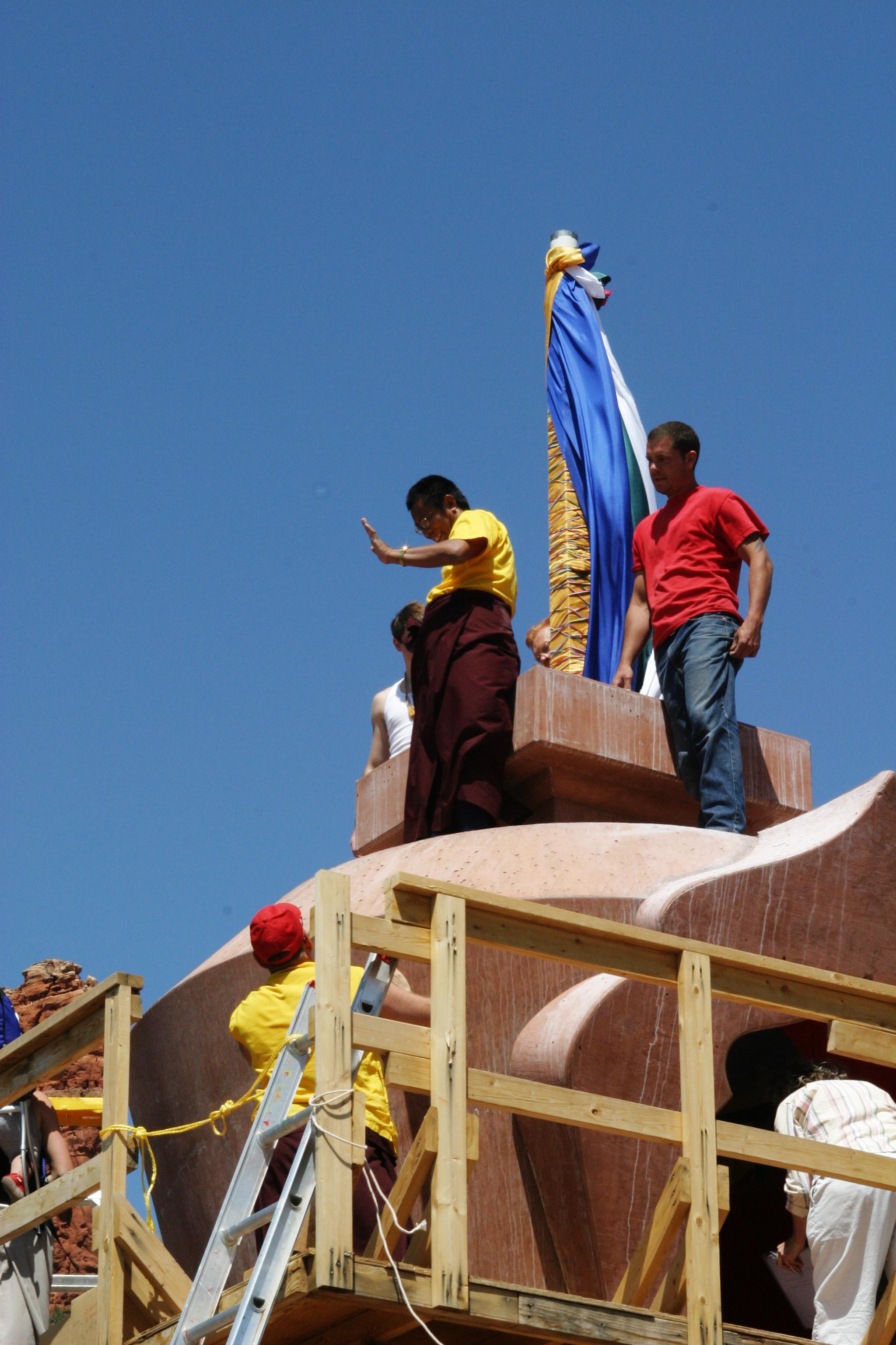 Tulku Sang Ngag Rinpoche at Amitabha Stupa