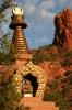 Amitabha Stupa and Red Rocks