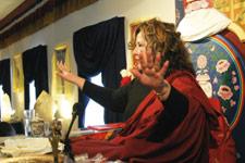 Jetsunma Ahkon Lhamo teaching at KPC