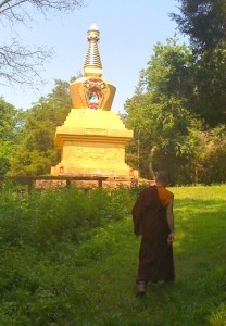 Monk at MD Stupa2